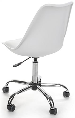 Modern Molded Wheelie Chair with Padded Seat