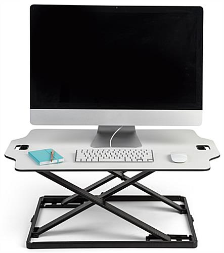 Foldable desktop riser with enough space for all of your workstation essentials