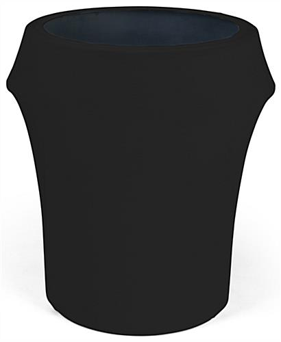 Black spandex trash can covers fit 55 gallon waste barrels