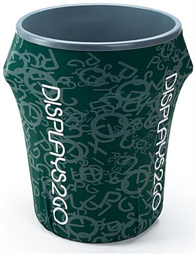 Custom 44-Gal Trash Bin Cover with 100% Customizable Design