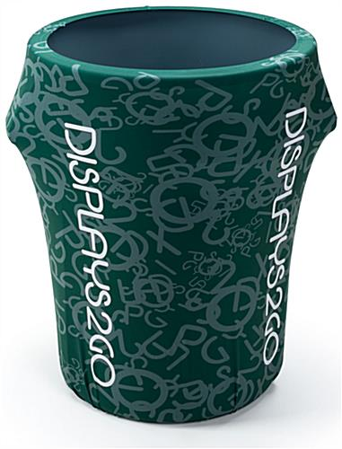 Custom 44-Gal Trash Bin Cover with Contoured Fit
