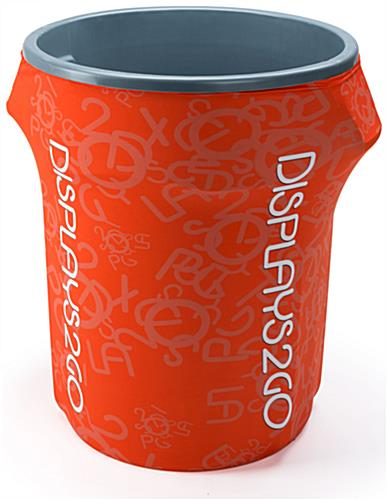 Full Color 55-Gal Garbage Can Cover with Customizable Template