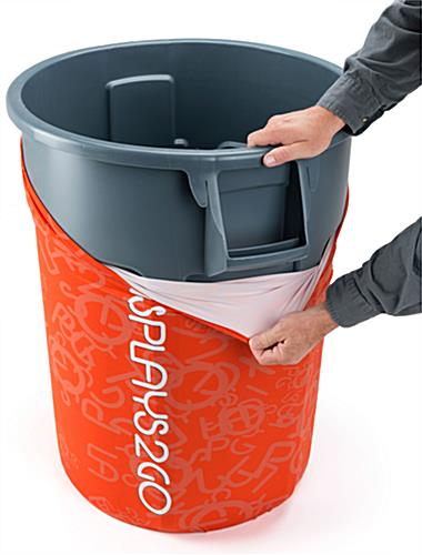 Full Color 55-Gal Garbage Can Cover with Stretch Material