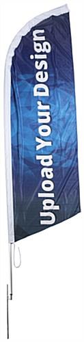 10-ft Custom Blade Flag with Digitally-Printed Graphics