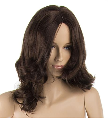 Female Mannequin with Brown Wig, Long