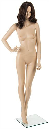 Female Mannequin with Brown Wig and Tall Build