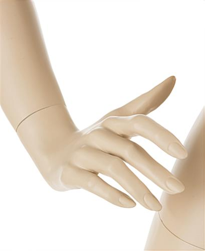 Realistic Female Mannequin with Blonde Hair and Fully Formed Hands