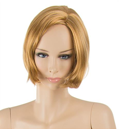 Realistic Female Mannequin with Blonde Hair and Painted Facial Features