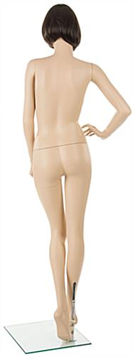 Female Mannequin with Brunette Wig With Realistic Features and Pose