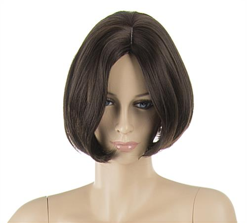 Female Mannequin with Brunette Wig and Painted Facial Detail