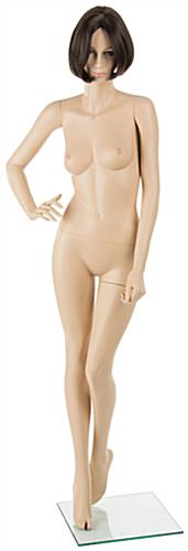 Female Mannequin with Brunette Wig and Fiberglass Body