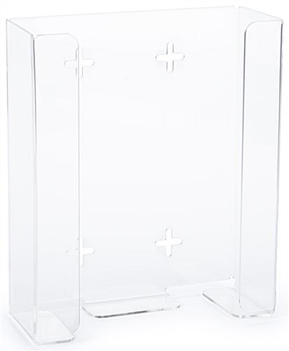 Acrylic 2 box glove holder with open front panel