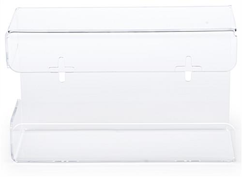 Acrylic glove box dispenser with width of 12 inches