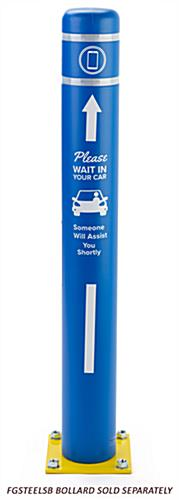 Personalized bollard post protection sleeve with two print areas