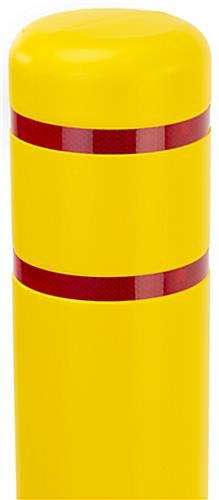 Reflective bollard cover with 6 inch diameter