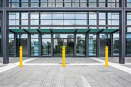 Reflective bollard cover with maintenance free plastic
