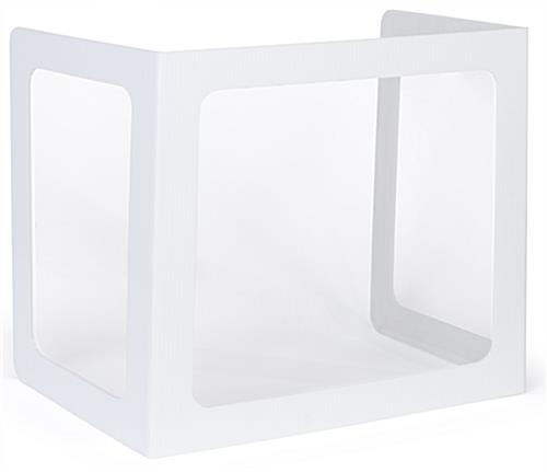 Student desktop privacy shield with three clear panels