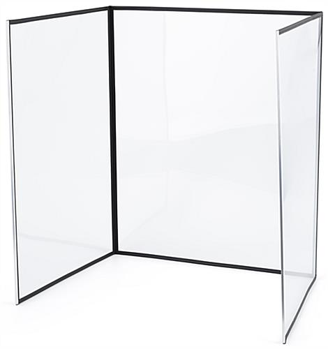 3-panel desktop hygiene barrier with freestanding structure