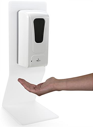 Countertop touchless hand sanitizer dispenser with motion sensor