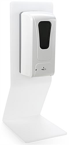 White acrylic countertop touchless hand sanitizer dispenser