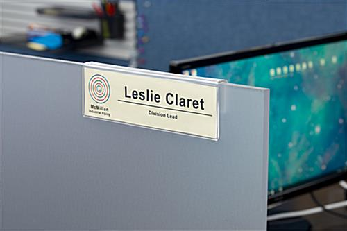 slide-on cubicle name plate