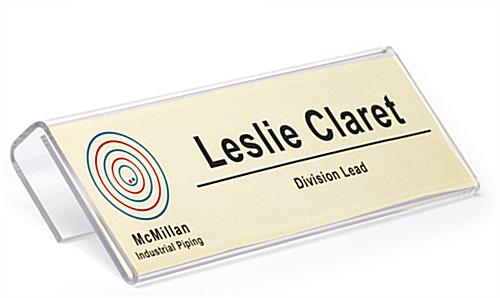 "cubicle name plate for 8.5"" x 2.5"" custom tags"