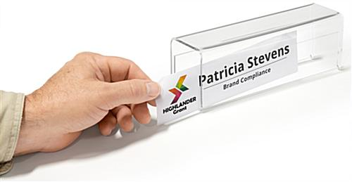 Acrylic Partition Name Plate Display Fits 1 5 Cubicle Walls