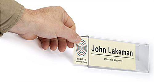 reusable cubicle name plate holder