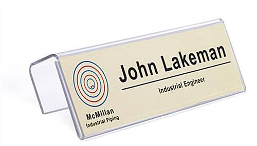 "cubicle name plate holder for 8.5"" x 2.5"" inserts"