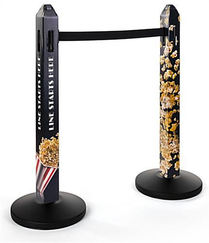 Stanchion cover with custom graphics comes as a set of two