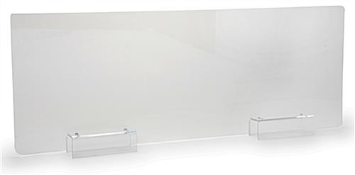 Clear acrylic cubicle sneeze guard