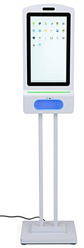Digital hand sanitizer floor kiosk with LED light indicators