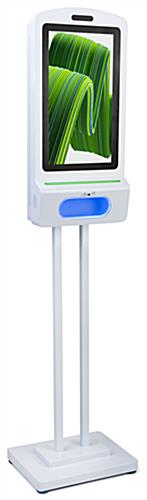 Digital hand sanitizer floor kiosk with free standing 45 inch pole height