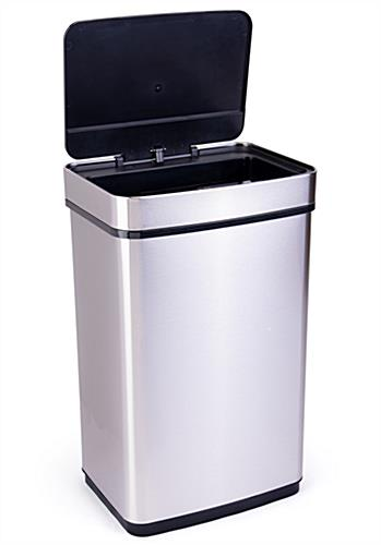 Rectangular motion sensor trash can 6 AA size batteries needed (not included)