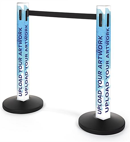Custom Printed Stanchion Post Sleeve with personalized graphics