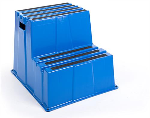 Blue plastic safety step