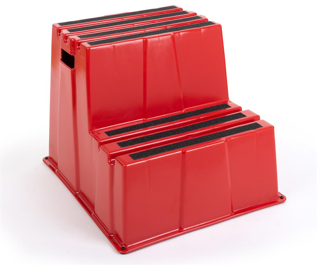 Wondrous 20H Step Stool 2 Tiers 500 Lb Capacity Red Uwap Interior Chair Design Uwaporg