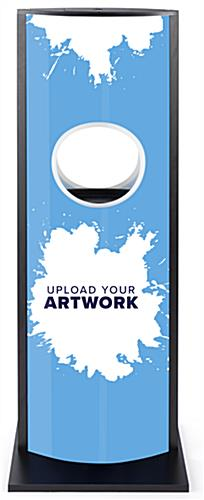 Automatic hand sanitizer advertising kiosk with ability to create your own custom graphic ideas