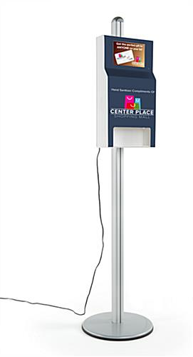 Purell custom hand sanitizer station with digital sign