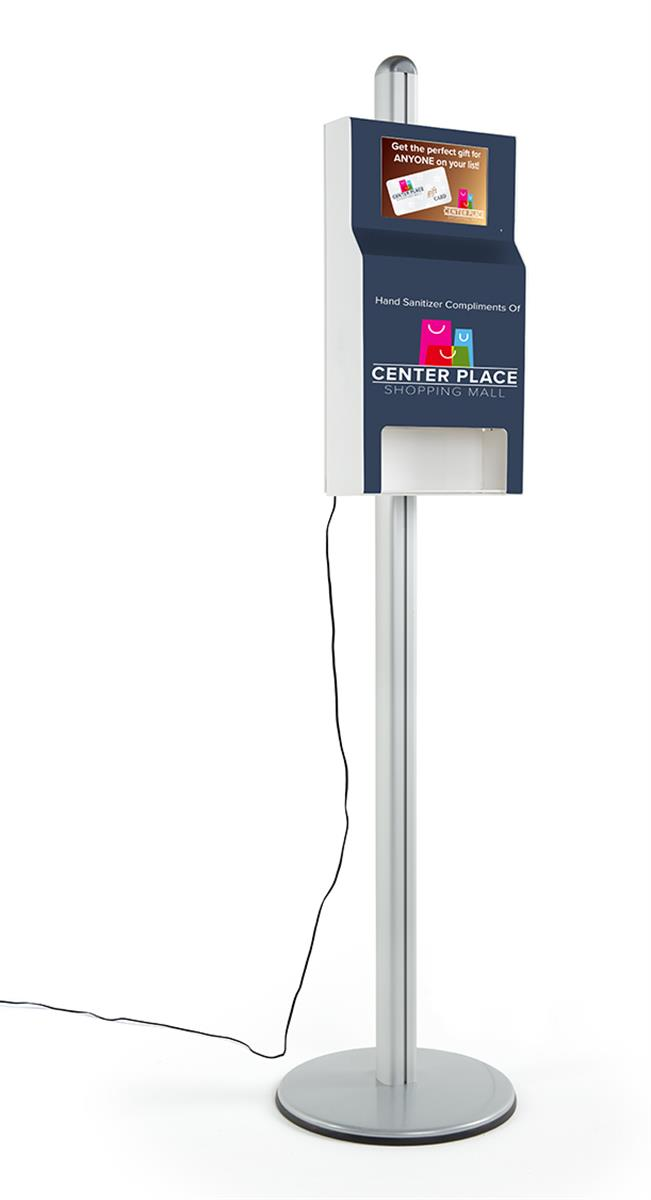 Custom Hand Sanitizer Station With Digital Sign 10 1 Screen