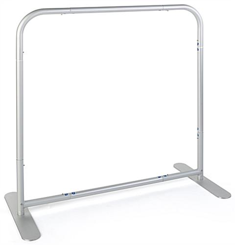 Tension fabric cafe style barrier with aluminum frame