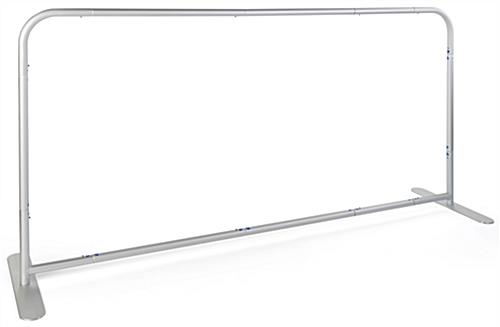 Stretch fabric cafe divider with lightweight aluminum frame