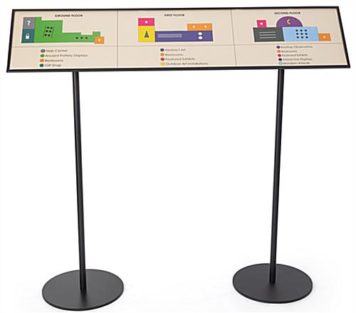 Museum reader rail signage plate for high traffic areas