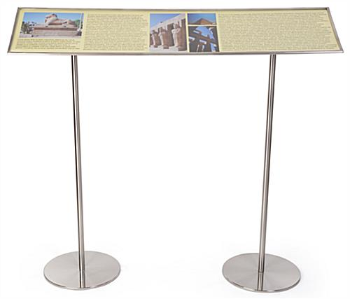 Stainless steel exhibition reader rails