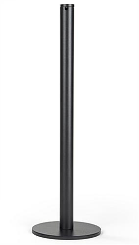 Powder coated stainless steel floor mount gallery stanchion