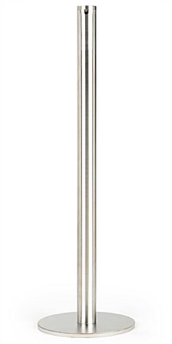 Brushed stainless steel fixed post art gallery stanchion