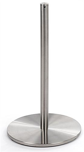 Single Silver Exhibit Low Profile Stanchion