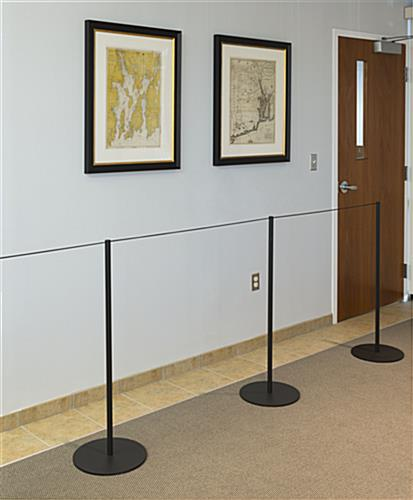 Barrier Around Jewelry Using 100-ft Black Elastic Stanchion Cord