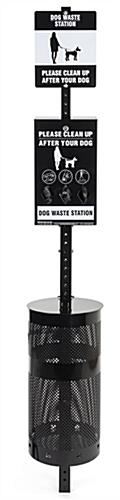 Pet waste system with easy assembly