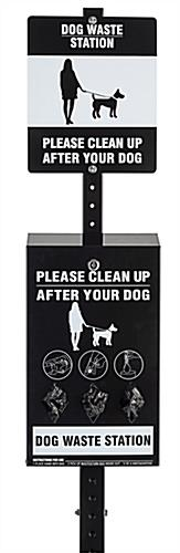 Pet waste system with powder coated and gloss finishes
